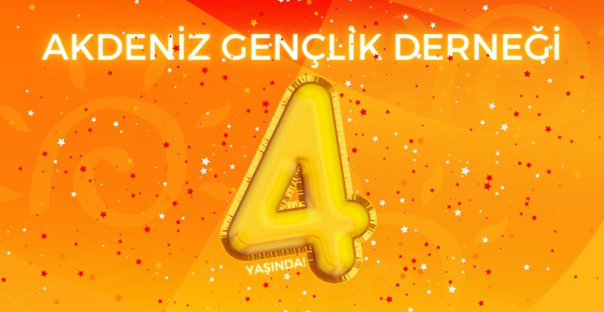 Akdeniz Gençlik Derneği 4 yaşında!