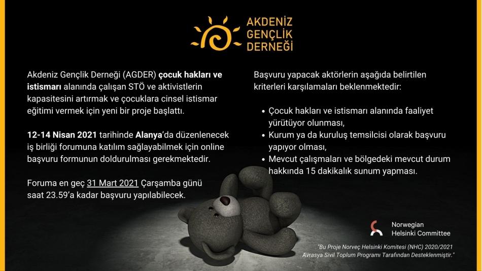 Çocuk Hakları Alanında Çalışan Kurum ve Kuruluşlar için İş Birliği Forumu